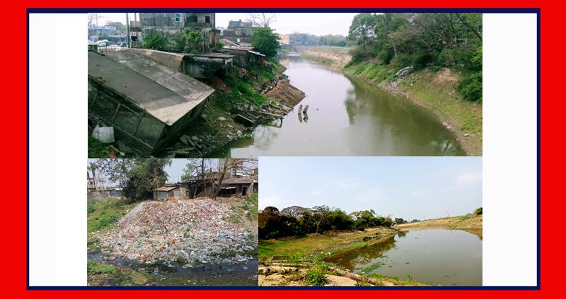 ছাতকের বোকা নদী এখন সরু খাল